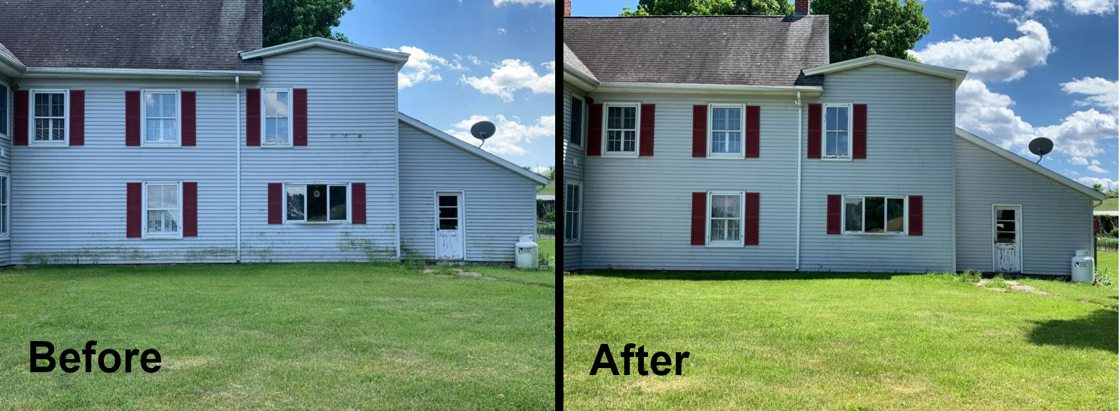 Soft wash siding warwick before and after