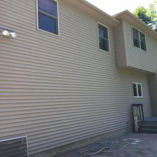 Soft wash siding power wash fence patio warwick