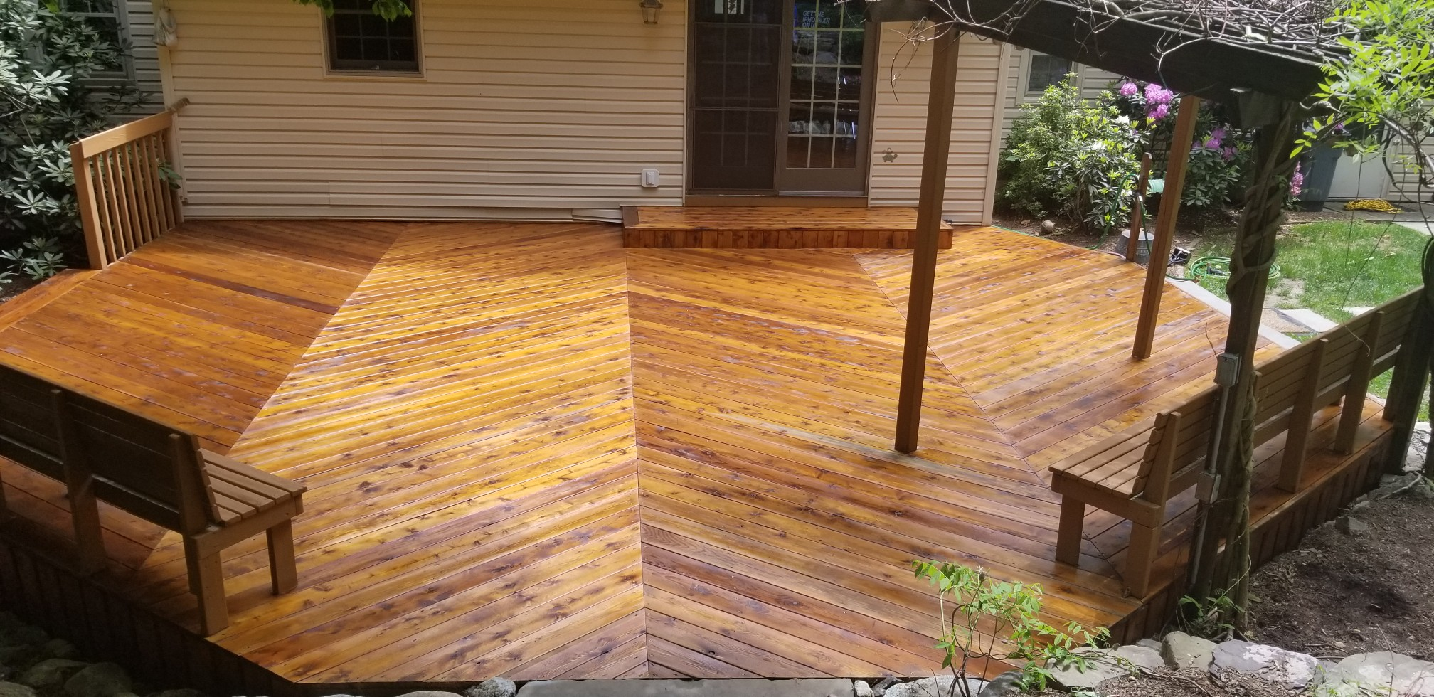 Cedar deck restoration ringwood nj