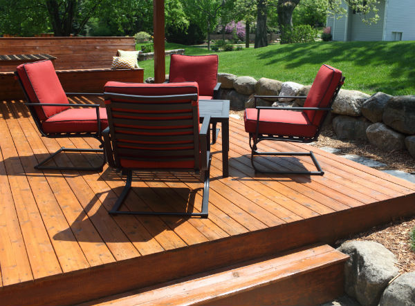 Hardwood deck restoration